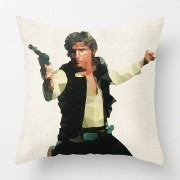 Star Wars sofapude med Han Solo i trendy polygon grafik